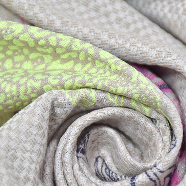 Jacquard fabric.