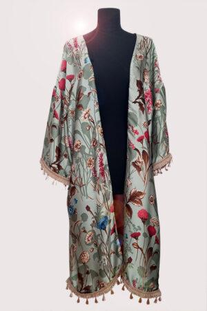 NEON RABBIT ethical brand. Item - pure silk mint kimono.
