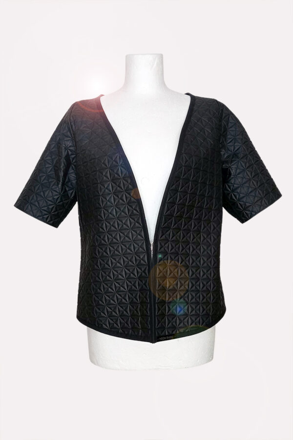 NEON RABBIT ethical brand. Item - black mat jacket.