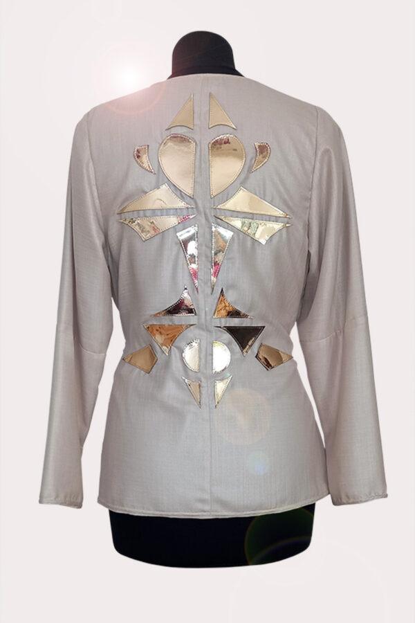 NEON RABBIT ethical fashion brand. Item - Kaleidoscope inspired beige jacket.